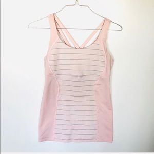 Lululemon Criss across Pink Tank Top